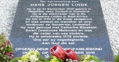 Gedenksteen vir Linde-stamvader